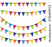 colored garlands background... | Shutterstock .eps vector #378400915