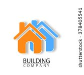 building company logo. flat... | Shutterstock .eps vector #378405541