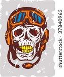 ace pilot skull face grunge | Shutterstock .eps vector #37840963