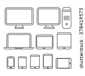 different media devices... | Shutterstock .eps vector #378419575
