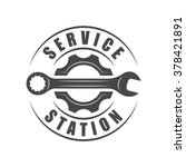 auto service logotype  wrench... | Shutterstock .eps vector #378421891