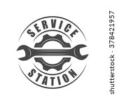 auto service logotype  wrench... | Shutterstock .eps vector #378421957