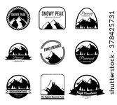 set of mountains logotypes.... | Shutterstock .eps vector #378425731