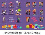 isometric valentines day.... | Shutterstock . vector #378427567