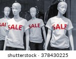 shopping sale window display... | Shutterstock . vector #378430225