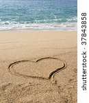 A Heart Drawn On The Sand   St. ...