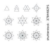 trigon black outline monochrome ... | Shutterstock . vector #378448291