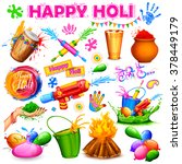 illustration of set of holi... | Shutterstock .eps vector #378449179