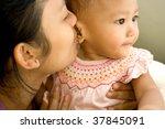 closeup portrait of a mother... | Shutterstock . vector #37845091