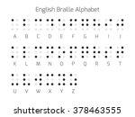 braille alphabet letters....   Shutterstock .eps vector #378463555