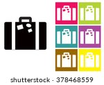 suitcase icon or suitcase... | Shutterstock .eps vector #378468559