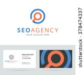 seo agency logo and business... | Shutterstock .eps vector #378474337