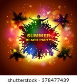 summer beach party with dance... | Shutterstock .eps vector #378477439