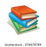 books. set 1. | Shutterstock .eps vector #378478789