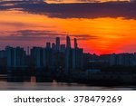 sunrise at the moscow city.... | Shutterstock . vector #378479269