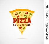 pizza restaurant logo with a...