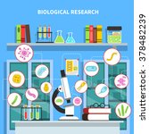 microbiology lab concept with... | Shutterstock .eps vector #378482239