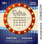 retro cinema party poster with... | Shutterstock .eps vector #378482299