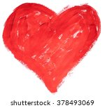 painted bright colors red heart | Shutterstock . vector #378493069
