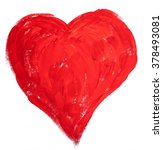 painted bright colors red heart | Shutterstock . vector #378493081