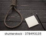 loop hempen rope on sticker for ... | Shutterstock . vector #378493135