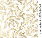 Seamless pattern consisting of gold  plant branches