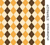 argyle pattern. diamond shapes... | Shutterstock .eps vector #378496129