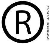 bevel registered sign | Shutterstock . vector #37850719