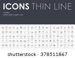 tourism thin line icons | Shutterstock .eps vector #378511867