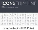 gaming thin line icons | Shutterstock .eps vector #378511969