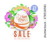 the easter eggs banner for...   Shutterstock .eps vector #378518581