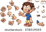 cartoon kid with different... | Shutterstock .eps vector #378519055