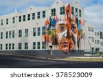 Small photo of Warrnambool, Australia - January 23, 2016: South West TAFE is a public college of technical and further education. It features a mural called Ngatanwarr by artist Matt Adnate