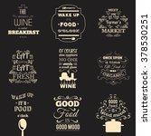 collection of food quotes with... | Shutterstock .eps vector #378530251