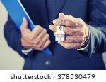 real estate agent handing over...   Shutterstock . vector #378530479