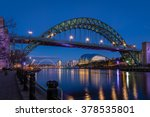 tyne bridge and quayside at...   Shutterstock . vector #378535801