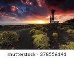 Sunset Scene At Lighthouse In...