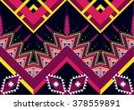 geometric ethnic pattern... | Shutterstock .eps vector #378559891