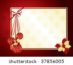 red and gold christmas... | Shutterstock . vector #37856005