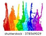 abstract color splash rainbow... | Shutterstock . vector #378569029