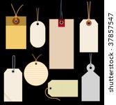 vector illustration of labels | Shutterstock .eps vector #37857547
