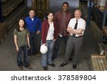 colleagues in warehouse | Shutterstock . vector #378589804