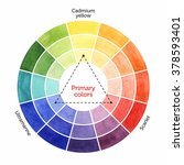color mixing chart for... | Shutterstock . vector #378593401