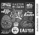 easter typographical background.... | Shutterstock . vector #378595339