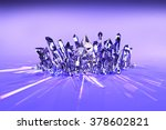 crystal cluster a cluster of... | Shutterstock . vector #378602821