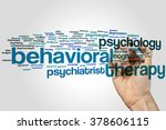 behavioral therapy concept word ... | Shutterstock . vector #378606115