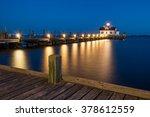 twilight over roanoke marshes... | Shutterstock . vector #378612559
