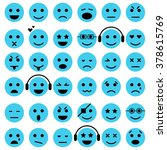 set of emoticons. isolated... | Shutterstock .eps vector #378615769