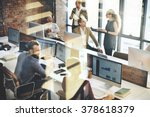 business marketing team... | Shutterstock . vector #378618379