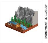 isometric island | Shutterstock .eps vector #378621859